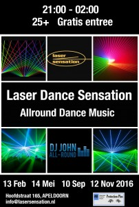 13-2-2016 Allround Dance Music Laser Sensation Apeldoorn